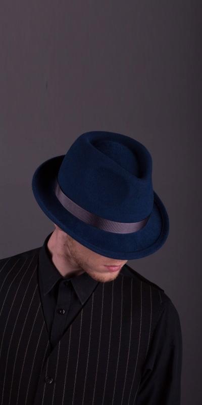 62ae6c2a0002d7 Модель 'Адріано' : Чоловічі капелюхи / Пуховий фетр / 55-62 рр.